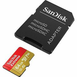 SD micro 64GB Sandisk Extreme UHS-I + adapter, SDSQXA2-064G-GN6MA