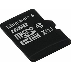 SD micro 16GB KGS 10 Canvas Select, R80/W10, SDCS/16GBSP