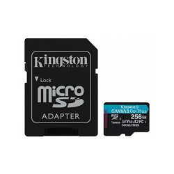 SD micro 256GB KGS 10 Canvas GO Plus, R170/W90, SDCG3/256GB