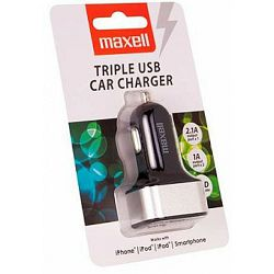 Punjač auto USB Maxell Triple charger 2.1A/1A/1A