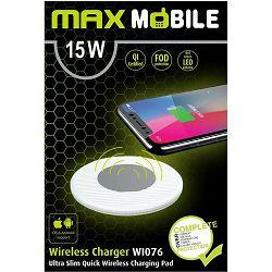 MAXMOBILE bežični punjač WI-076 QC QUICK CHARGE 15W bijeli