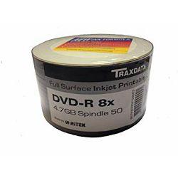 DVD-R medij Traxdata 8x 50 kom print