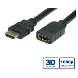 Kabel HDMI M/HDMI F, 5m, HDMI produžni kabel sa mrežom