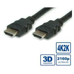 HDMI Ultra HD kabel sa mrežom, M/M, crni, 3.0m