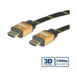 Kabel HDMI 19M/19M 1m sa mrežom, Roline Gold, 11.04.5501