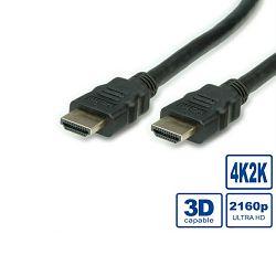 Kabel HDMI 19M/19M 3m, Ultra HD kabel sa mrežom, Roline, S3702