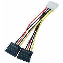 Kabel SATA int nap Molex>2xSATA, TRN-C187-BL