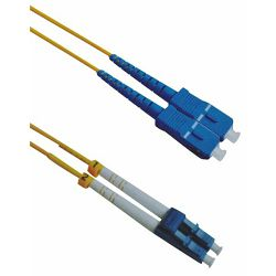 NFO Patch cord, PCDSM-15091, LC/UPC-SC/UPC, Singlemode 9/125, G.657.A2 | Duplex | LSZH | 2mm | 1m