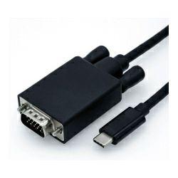 Adapter USB 3.1 Type C - VGA, 0.15m, Roline,  12.99.3203
