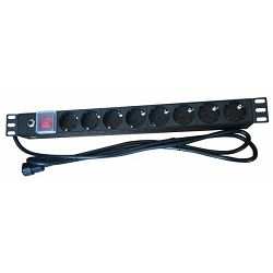 NaviaTec PDU010, 8x Outlet Power Distribution Unit, 8x Schuko Input Cable C14