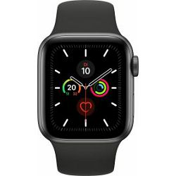 Apple Watch Series 5, GPS+Cellular, 40mm Space Gray Aluminium, Sport Band Black, MWX32FD