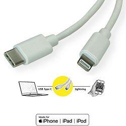 Kabel USB-C/Lightning to USB-C Cable 1.0m, Roline, 11.02.8323