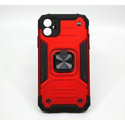 MAXMOBILE TPU IPHONE 11 6.1 ANTI-SHOCK WITH RING II crvena
