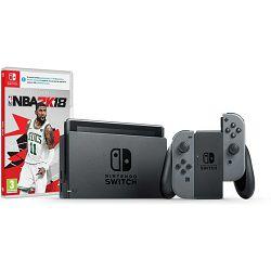 Nintendo Switch Console - Grey Joy-Con HAD + NBA 2K18 Switch, NSCGREYJCHADNBA02K18SW