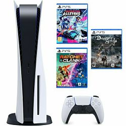 PlayStation 5 B Chasis + Ratchet & Clank Rift Apart PS5 + Destruction AllStars PS5 + Demon's Souls PS5