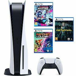 PlayStation 5 B Chasis + Ratchet & Clank Rift Apart PS5 + Destruction AllStars PS5 + Returnal PS5