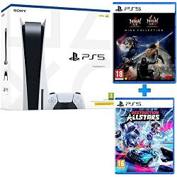 PlayStation 5 B Chasis + Ratchet & Clank Rift Apart PS5 + Destruction AllStars PS5 + The Nioh Collection PS5