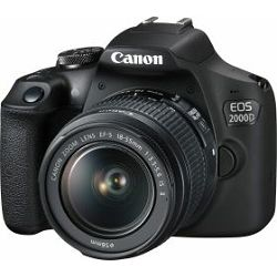 Canon EOS 2000D black with lens 18-55mm IS 16GB+ EF 50mm f1.8 STM, digitalni fotoaparat s objektivom, 2728C029AA