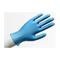 Rukavice Vinilne rukavice jednokratne, pakiranje 100 kom, plave, veličina :  XL, Wally Blue XL