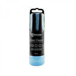 Sredstvo za čišćenje ekrana s mikrofiber krpicom SBOX CS-5005 Plava