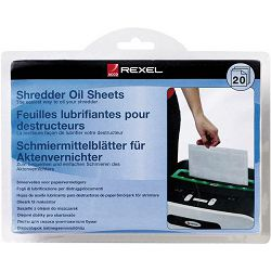 Rexel  list uljni za podmazivanje uništavača A5 pk20 Rexel 2101949 blister