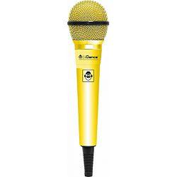 iDance mikrofon žični, 6.3cm, 4m,  žuti CLM10