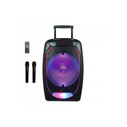 N-GEAR karaoke razglas 500W The Flash 1510, BT, disco LED, baterija, 2 mikrofona