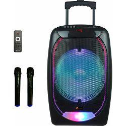 N-GEAR karaoke razglas 300W The Flash 1210, BT, disco LED, baterija, 2 mikrofona
