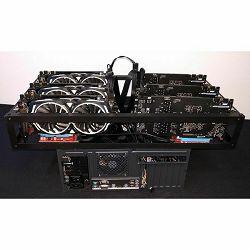 ADM Mining Kit 1080 Gaming X, 6x GTX1080, 6x Riser 008, Z270-A Pro, G4560, 8GB DDR4, 120GB SSD, 2x 750W, Mining kućište BKS II