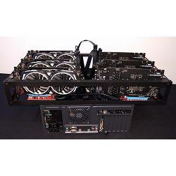 ADM Mining Kit Armor OC V1, 6x GTX1060, 6x Riser, Corsair 1000W, Z270-A Pro, G4400, 8GB DDR4, 120GB SSD, ADM Mining kućište