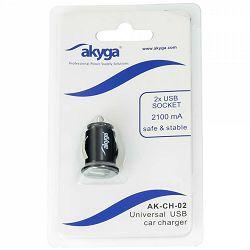 Akyga 2x USB punjač za auto AK-CH-02, 5V/1.0A