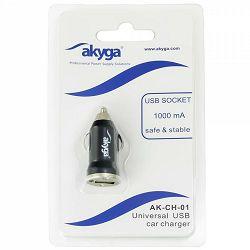 Akyga USB punjač za auto AK-CH-01, 5V/1.0A