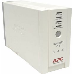 APC BK500EI -  Back-UPS CS 500VA /300W, 7/12 min. Complete System Protection, Data line protection,