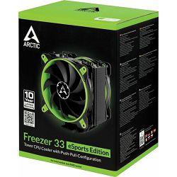 Arctic Freezer 33 eSports Edition green, Socket: 1150, 1151, 1155, 1156, 2011, 2011-3, 2066, AM4, ACFRE00035A