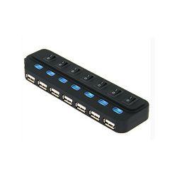 Asonic USB 2.0 7Port Hub + 5V napajanje (220V)