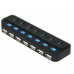 Asonic USB 3.0 7Port Hub, metalno kućište +5V napajanje (220V)