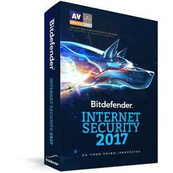 BitDefender Internet Security 2017, 1 licenca 1g