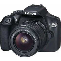 Canon EOS 1300D 18-55 + EF50 f1.8 STM, 18MP, ISO6400, FullHD