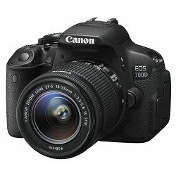 Canon EOS 700D + 18-55mm IS STM, Digitalni SLR fotoaparat, Priključak objektiva: EF/EF-S, Fokalna d
