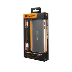 Canyon Powerbank 10000mAh Dark Gray, CNE-CPB100DG