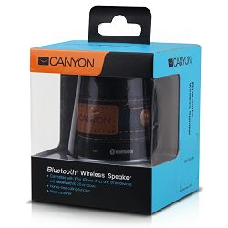 Canyon stylish Bluetooth speaker CNS-CBTSP1B, volume control touch buttons, built in microphone, ca
