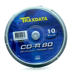 Medij CD-R 700MB, 52x, TRAXDATA, 10 kom, spindle, 901753ITRA002