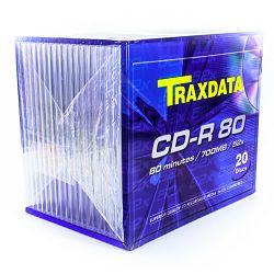 Medij CD-R 700MB, 52x, TRAXDATA, 10 kom, Slimbox, 90119JGTRA003