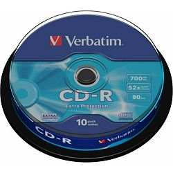 Medij CD-R 700MB, 52x, Verbatim, 10 kom, spindle, 43437