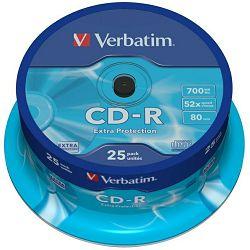 CD medij Verbatim 52x 25 43432
