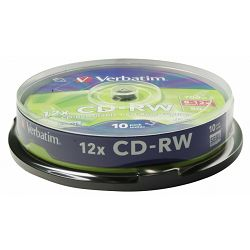 Medij CD-RW 700MB, 52x, Verbatim, 10 kom, spindle, 43480