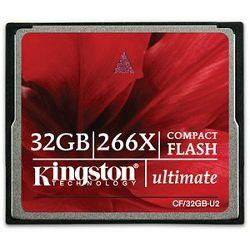 CompactFlash 32GB Kingston CF Ultimate 266x, CF/32GB-U2