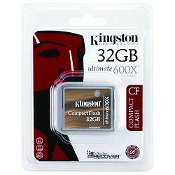 CompactFlash 32GB Kingston CF Ultimate 600x, CF/32GB-U3