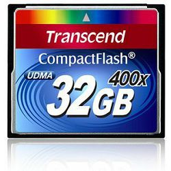 Compact Flash 32GB Transcend 400x, 90MB/s / 60 MB/s, TS32GCF400