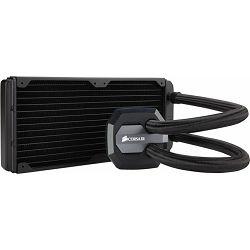 Corsair Hydro Series H100i GTX, liquid CPU cooling, 240mm top-mounted radiator (aluminium). Cooper